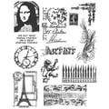 Stampers Anonymous Tim Holtz 7in. x 8 1/2in. Large Cling Stamp Set, Mini Classics