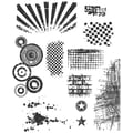 Stampers Anonymous Tim Holtz 7in. x 8 1/2in. Large Cling Stamp Set, Bitty Grunge