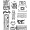 Stampers Anonymous Tim Holtz 7in. x 8 1/2in. Large Cling Stamp Set, Going Somewhere