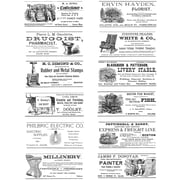 """Stampers Anonymous Tim Holtz 7"""" x 8 1/2"""" Large Cling Stamp Set, Adverts"""