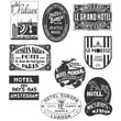 """Stampers Anonymous Tim Holtz 7"""" x 8 1/2"""" Large Cling Stamp Set, Travel Labels"""