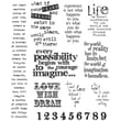 """Stampers Anonymous Tim Holtz 7"""" x 8 1/2"""" Large Cling Stamp Set, Stuff 2 Say"""