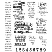 "Stampers Anonymous Tim Holtz 7"" x 8 1/2"" Large Cling Stamp Set, Stuff 2 Say"