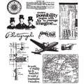 Stampers Anonymous Tim Holtz 7in. x 8 1/2in. Large Cling Stamp Set, Warehouse District