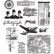 Stampers Anonymous Tim Holtz 7 x 8 1/2 Large Cling Stamp Set, Warehouse District