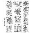 """Stampers Anonymous Tim Holtz 7"""" x 8 1/2"""" Large Cling Stamp Set, Mini Blueprint"""