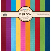 "Bo Bunny Bold and Bright Double Dot Cardstock Collection Pack, 12"" x 12"""