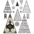 Justrite® Stampers 6in. x 4in. Clear Stamp Set, O Christmas Tree