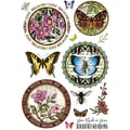 Justrite® Stampers 6in. x 4in. Clear Stamp Set, Botanical Butterflies