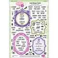 Justrite® Stampers 6in. x 8in. Clear Stamp Set, Just Keep Calm