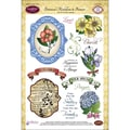Justrite® Stampers 6in. x 8in. Clear Stamp Set, Botanical Medallions & Banners