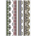 Justrite® Stampers Clear Stamp Set, Classic Art Deco Lace Edges One