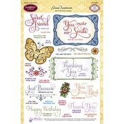 "Justrite® Stampers 6""x8"" Clear Stamp Set, Grand Sentiments"