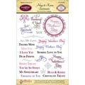 Justrite® Stampers 6in. x 4in. Clear Stamp Set, Hugs & Kisses