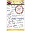 Justrite® Stampers 6in. x 4in. Clear Stamp Set, All In The Family Large Sentiments