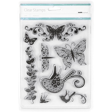 Kaisercraft 7 1/2in. x 6in. Clear Stamp, Flora & Fauna