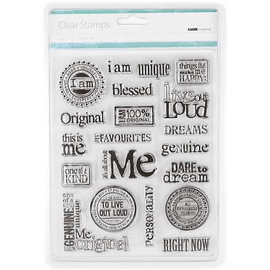Kaisercraft 7 1/2in. x 6in. Clear Stamp, All About Me