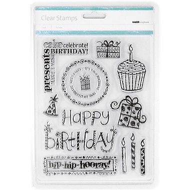 Kaisercraft 7 1/2in. x 6in. Clear Stamp, Birthday