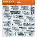 Fiskars® 8in. x 8in. Quote Clear Stamp, Make A Wish