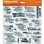 Fiskars® 8 x 8 Quote Clear Stamp, Make