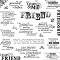 Fiskars® 8in. x 8in. Quote Clear Stamp, Friends Forever