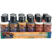 Deco Art Traditions 1 0z. Acrylic Palette Sampler Kit, 12/Pack (DATSK01)