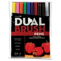 Tombow® 10 Piece Primary Dual Brush Marker