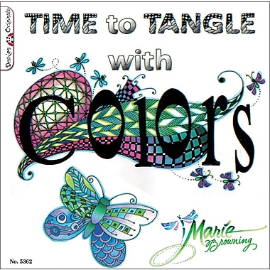 Design Originals Time To Tangle With Colors Book