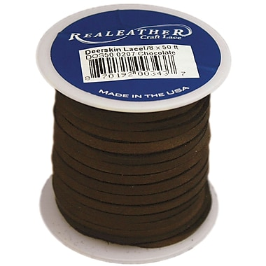Silver Creek 1/8in. Wide Deerskin Lace, Chocolate