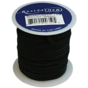 "Silver Creek 1/8"" Wide Deerskin Lace, Black"