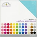 Doodlebug Rainbow Textured Cardstock, 12in. x 12in.