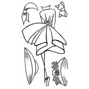 """Ranger 9"""" x 5"""" Dyan Reaveley's Dylusions Couture Clear Stamp, Walk In The Park"""