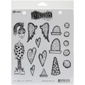 Ranger 7in. x 8 1/2in. Dyan Reaveley's Dylusions Cling Stamp, Love Struck Lucy