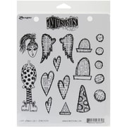 "Ranger 7"" x 8 1/2"" Dyan Reaveley's Dylusions Cling Stamp, Love Struck Lucy"