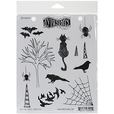 Ranger 7in. x 8 1/2in. Dyan Reaveley's Dylusions Cling Stamp, Bits & Bats