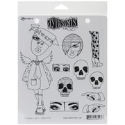"""Ranger 7"""" x 8 1/2"""" Dyan Reaveley's Dylusions Cling Stamp, Dependable Dotty"""