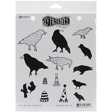 Ranger 7in. x 8 1/2in. Dyan Reaveley's Dylusions Cling Stamp, Birds On A Wire