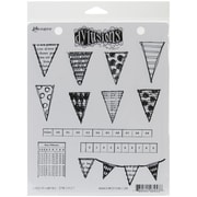 "Ranger 7"" x 8 1/2"" Dyan Reaveley's Dylusions Cling Stamp, Bags Of Bunting"