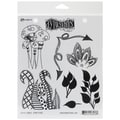 Ranger 7in. x 8 1/2in. Dyan Reaveley's Dylusions Cling Stamp, Doodle Parts