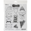 Ranger 7in. x 8 1/2in. Dyan Reaveley's Dylusions Cling Stamp, Christmas Accessories