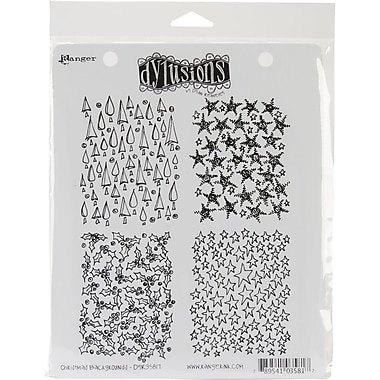 Ranger 7in. x 8 1/2in. Dyan Reaveley's Dylusions Cling Stamp, Christmas Background