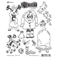 Ranger 7in. x 8 1/2in. Dyan Reaveley's Dylusions Cling Stamp, Monster Mash