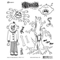Ranger 7in. x 8 1/2in. Dyan Reaveley's Dylusions Cling Stamp, Mischievous Malcom