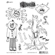 """Ranger 7"""" x 8 1/2"""" Dyan Reaveley's Dylusions Cling Stamp, Mischievous Malcom"""