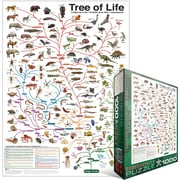 "Eurographics 19 1/4"" x 26 1/2"" Jigsaw Puzzle Evolution, ""The Tree Of Life"""