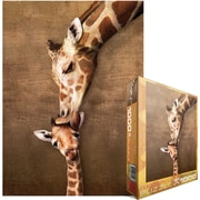 "Eurographics 19 1/4"" x 26 1/2"" Jigsaw Puzzle, ""Giraffe Mother's Kiss"""