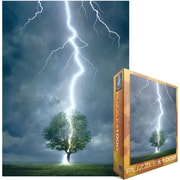 "Eurographics 19 1/4"" x 26 1/2"" Jigsaw Puzzle, ""Lightning Striking Tree"""