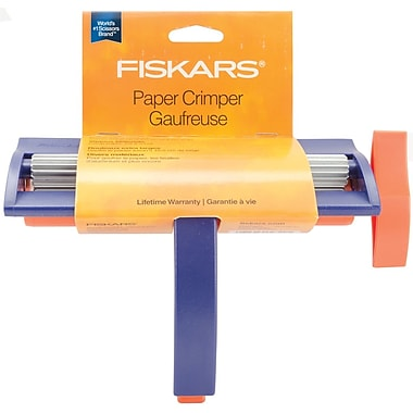 Fiskars F9340 Straight Blue Paper Crimper