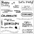 Fiskars® 8in. x 8in. Simple Stick Cling Stamp, Birthday Cheer