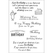 "Woodware Craft Collection 4"" x 6"" Clear Stamp, Special Birthday Sentiments"